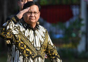 Ketua Umum Partai Gerindra Prabowo Subianto tiba di Istana Kepresidenan. (ANTARA FOTO/ Wahyu Putro)