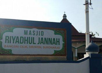 MasjidRiyadhul Jannah Sukoharjo. (TRIBUNSOLO.COM/AGIL TRI)