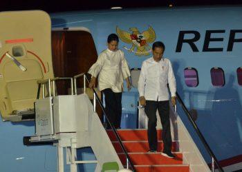 Presiden Jokowi dan Ibu Negara Iriana. (Setkab.go.id/Deni S)