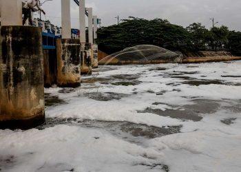 Kanal Banjir Timur (KBT). (Kompas.com/Garry Andrew Lotulung)
