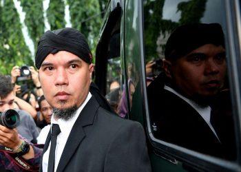 Ahmad Dhani. (ANTARA FOTO/Sigid Kurniawan)