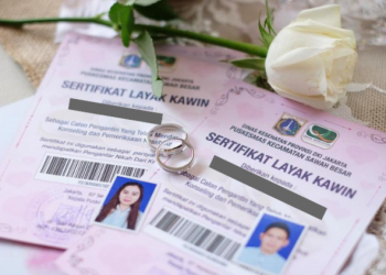 Ilustrasi sertifikat nikah. (istimewa)