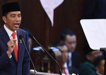 Presiden Jokowi. (ANTARA FOTO/AKBAR NUGROHO GUMAY)