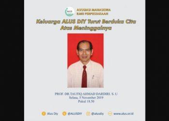 Prof Dr H Taufiq Ahmad Dardiri, SU - (Twitter/@ALUSDIY)
