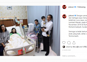 Tangkapan layar instagram Presiden Jokowi. (Instagram.com)