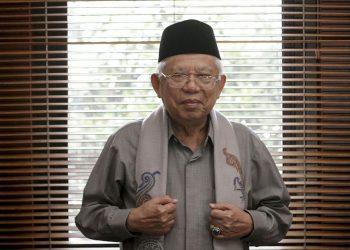 Wakil Presiden Ma'ruf Amin. (Wisnu Agung Prasetyo / Beritagar.id)
