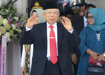 Wakil Presiden Ma'ruf Amin. (ANTARA FOTO/Nova Wahyudi)