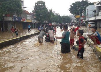 Banjir Jakarta. (KOMPAS.com/Ardito Ramadhan D)
