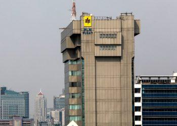 Gedung PLN pusat di kawasan Blok M, Jakarta Selatan. (Katadata.com/Ajeng Dinar Ulfiani)