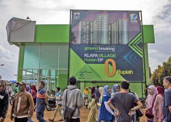 Hunian Rumah DP Nol Rupiah. (ANTARA FOTO/GALIH PRADIPTA)