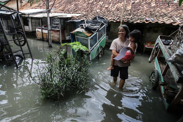 Banjir Jakarta. (Rivan Awal Lingga /Antara Foto)