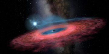 Ilustrasi black hole. (Jingchuan Yu)