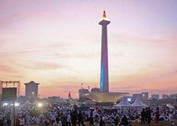 Monumen Nasional (Monas).  (Liputan6.com/Herman Zakharia)