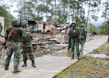 Para Tentara Nasional Indonesia (TNI) di Papua. (Saldi/Okezone)