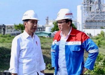 Presiden Jokowi dan Komisaris Utama Pertamina Ahok. (Bisnis.com)