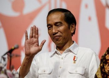 Presiden Jokowi. ((AFP PHOTO / ANTHONY WALLACE)