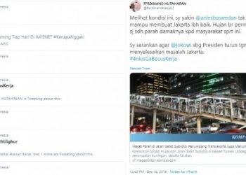 Tagar #4niesGaBecusKerja masuk trending topik di Twitter (twitter)