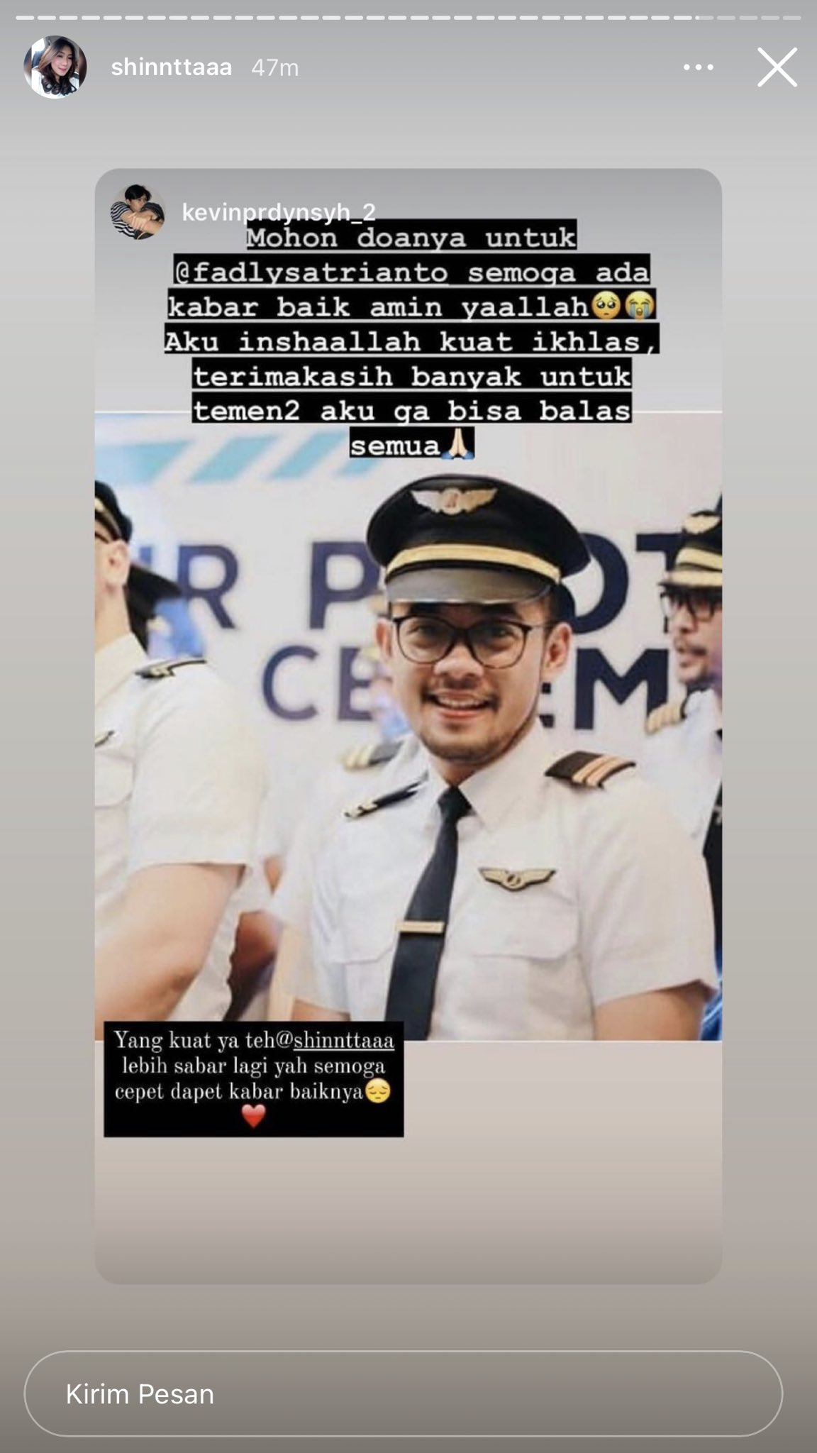 Co pilot Fadly Satrianto yang akan menikah