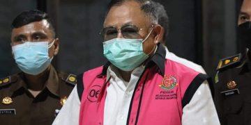 Enam tersangka kasus PT ASABRI ( Foto Kejaksaan RI)